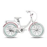 "Велосипед 20"" PRIDE SANDY бело-розовый глянцевый 2016"