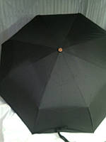 Мужской зонт механика Серебряный дождь с деревянной ручкой