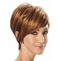 Парик высокого качества, термостойкое волокно, короткая стрижка, прямые волосы, цвет - русый