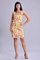Платье шелковое с цветочным принтом розового цвета