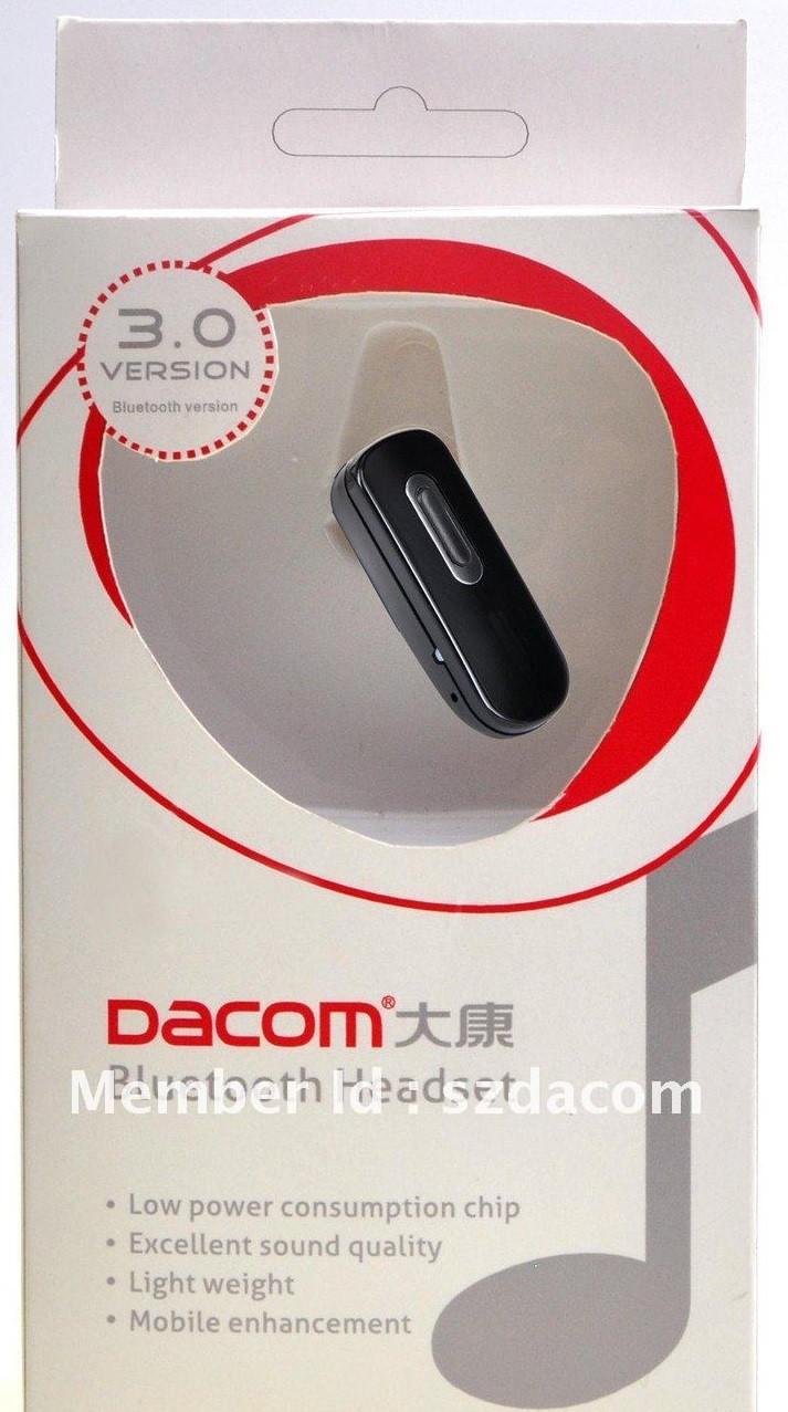 Bluetooth (блютуз) гарнитура Dacom B66. Диапазон - 10 метров. Аккумуляторная зарядка от USB.