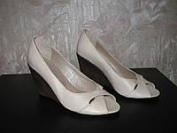 Женские летние туфли с открытым носом модель Л1Ж12