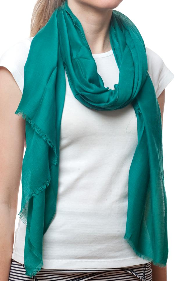 Женский бирюзовый шарф Легкий бриз 2