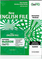 New English File Intermediate Workbook with  Answer Booklet and MultiROM Pack (рабочая тетрадь с ответами)