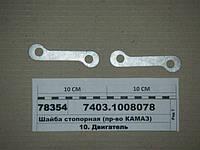 Шайба стопорная (пр-во КАМАЗ), 7403.1008078