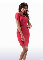 Красное платье делового стиля