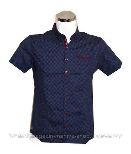 Рубашка мужская Punto батал синяя