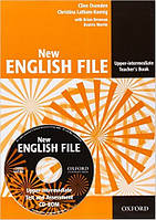 New English File Upper-Intermediat Teacher's Book with Test and Assessment CD-ROM (книга для учителя с диском)