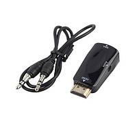 HDMI в на VGA видео адаптер конвертер с аудио