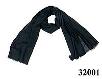 Женский черный шарф Легкий бриз
