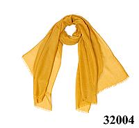 Купить женский горчичный шарф Легкий бриз