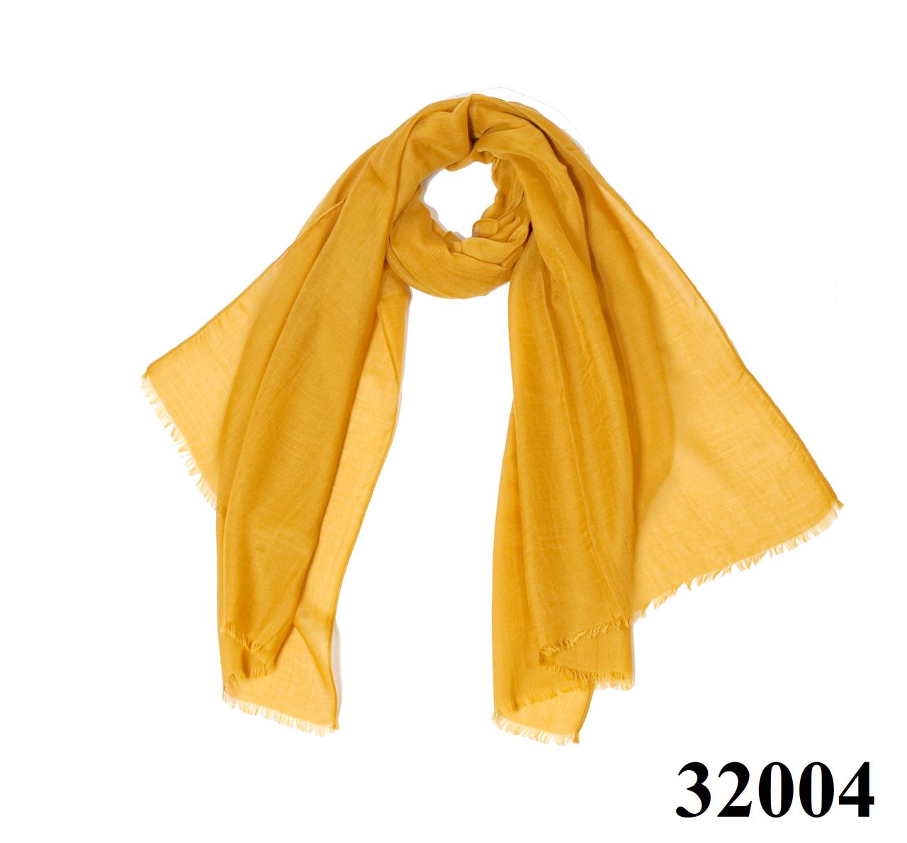 Женский горчичный шарф Легкий бриз, фото 1