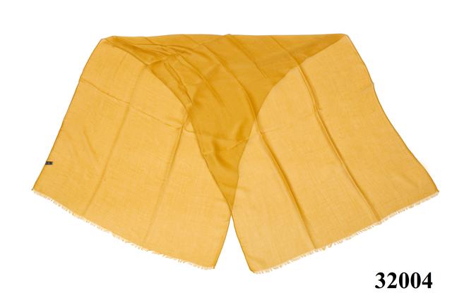 Женский горчичный шарф Легкий бриз 3