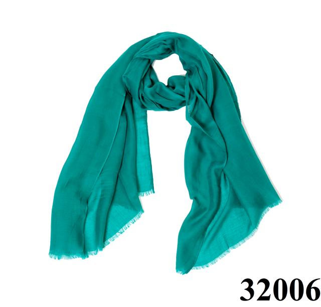 Женский бирюзовый шарф Легкий бриз 1