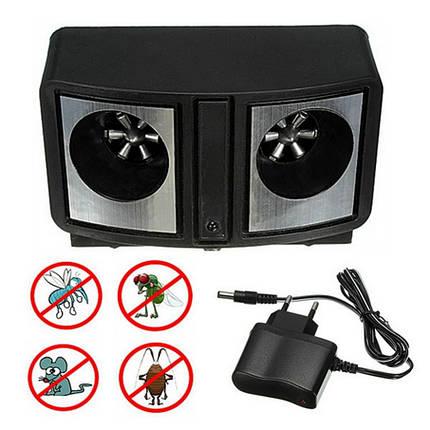 DUAL SONIC PEST REPELLER ультразвуковой электронный отпугиватель грызунов и насекомых, фото 2