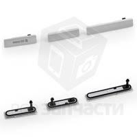 Заглушка набор 3шт разъема USB, боковые C6902 L39h Xperia Z1 / C6903 Xperia Z1 mini Grey (high copy)