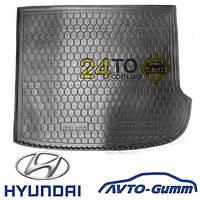 Коврик в багажник для HYUNDAI Santa-Fe (2006-12) (7мест) (Avto-Gumm), Хюндай Санта Фе