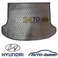 Коврик в багажник для HYUNDAI Santa-Fe корот.база (2012-...) (7мест) (Avto-Gumm), Хюндай Санта Фе