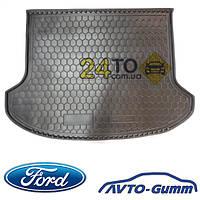 Коврик в багажник для FORD Focus (2011-...) (седан) (с докаткой) (Avto-Gumm), Форд Фокус