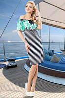 Очаровательное платье в полоску с ярким верхом