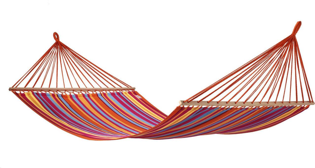 Гамак мексиканский 200*150, яркий полосатый гамак, двухместный гамак, фото 1