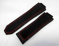 Ремешок к часам HUBLOT Geneve F1  цвет черный, каучук и замша