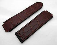 Ремешок к часам HUBLOT Geneve цвет коричневый, кожа и замша