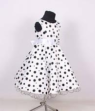 Детское нарядное красивое бальное платье в горошек., фото 3