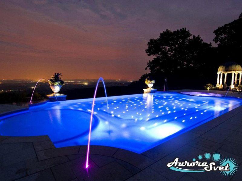 Архитектурная подсветка спортивных сооружений. LED подсветка. Светодиодное освещение сооружений.