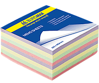 Buromax Блок бумаги для заметок 80*80мм 300л, Микс, клееный Арт. ВМ. 2272