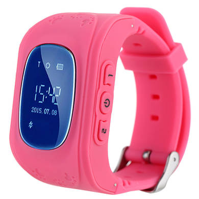 Kids Smart Watch Q50 с GPS трекером (Розовые) умные детские часы Kid Baby