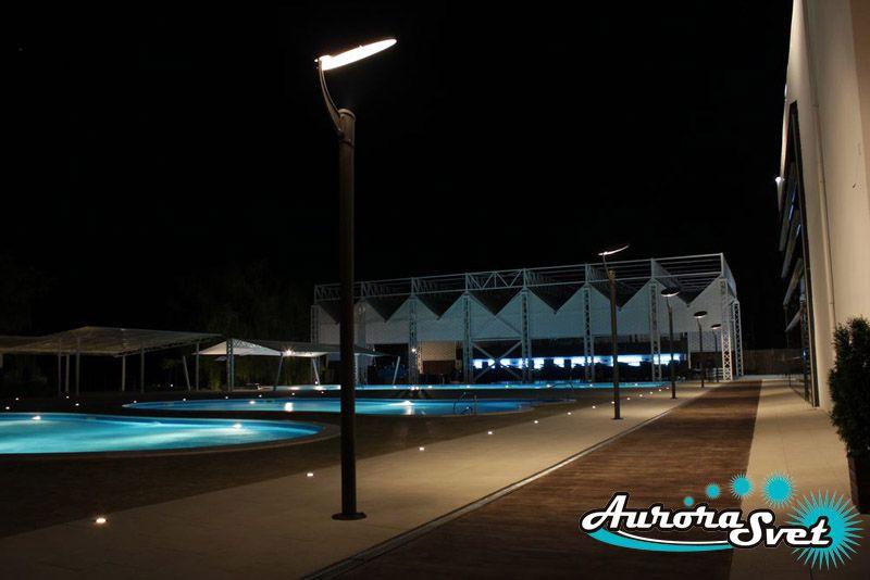 Освещение парковых зон. LED освещение. Светодиодное освещение зданий и сооружений.