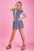 Практичное мини платье с рубашечным воротником