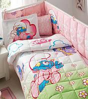 Детское постельное белье с бортиком в кроватку ТАС SIRINLER BABY