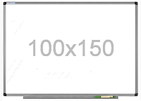 Доска магнитно-маркерная настенная с полкой в алюминиевой раме 100х150см, износостойкая поверхность