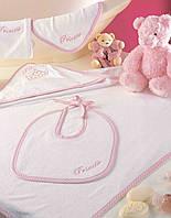 Набор для купания девочки ТАС  BABY TOWEL SETS PRINCESS РОЗОВЫЙ