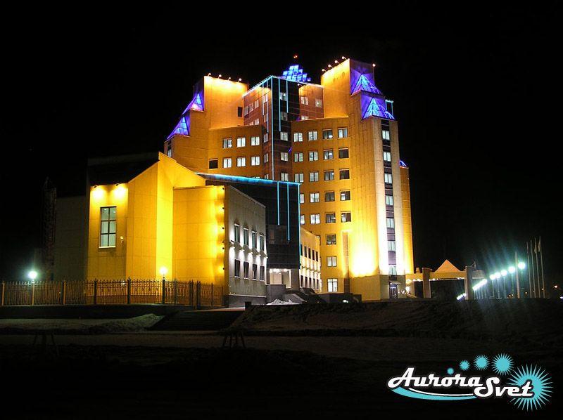 Архитектурная подсветка промышленных сооружений. LED освещение. Светодиодное освещение зданий и сооружений.