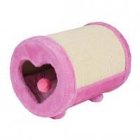 Дряпка д/кош Trixie круглая с сердечком розовая 27*39см