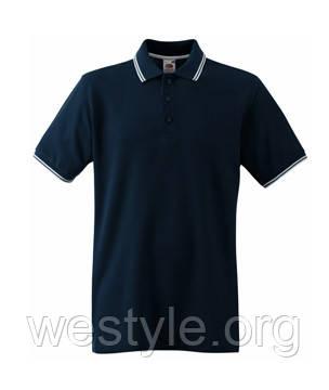 Футболка мужская Поло - 63-032-85 экстра темно-синяя