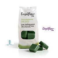 Горячий воск Depilflax Зеленый 1кг Депилфлакс