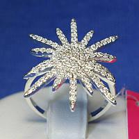Серебряное кольцо с цирконием Клякса 1085, фото 1