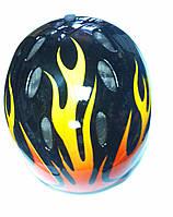 Шлем с сеточками (желтое пламя)