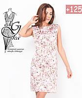 Платья летние женские прямого покроя без рукавов Елена-1