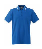 Футболка мужская Поло - 63-032-KB ярко-синяя