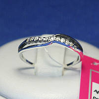 Кольцо черненое серебро с цирконом 1064, фото 1