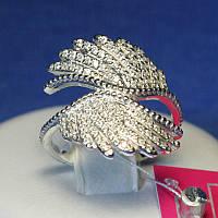 Серебряное кольцо с фианитом Крылья 1059