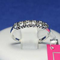 Серебряное кольцо на фалангу пальца с цирконом 1083, фото 1