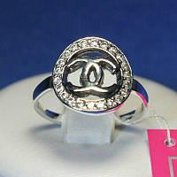 Серебряное кольцо с цирконием Шанель 1071