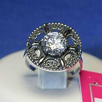 Винтажное серебряное кольцо с цирконием кубическим 1061