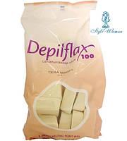 Горячий воск Depilflax Слоновая кость 1кг Депилфлакс